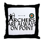 Archers On Point Throw Pillow
