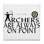 Archers On Point Tile Coaster