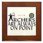 Archers On Point Framed Tile