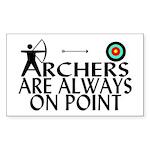 Archers On Point Sticker (Rectangle 50 pk)