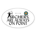 Archers On Point Sticker (Oval 10 pk)