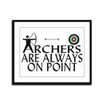 Archers On Point Framed Panel Print