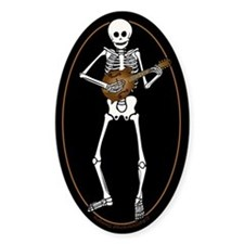 Skeleton Mandolin Decal
