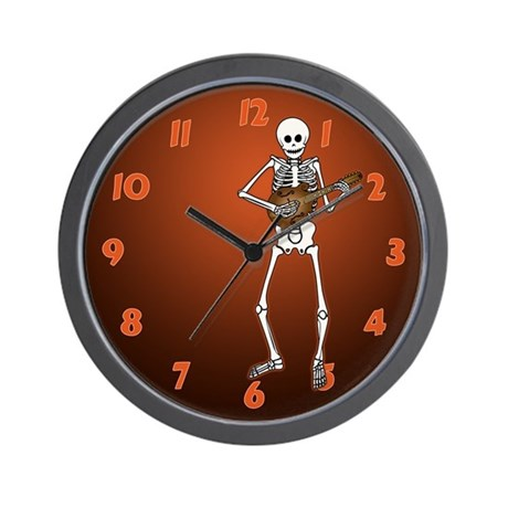 Skeleton Mandolin Wall Clock