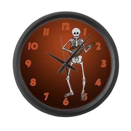Skeleton Mandolin Large Wall Clock
