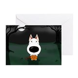 Bull Terrier Devil Halloween Greeting Cards (Pk of