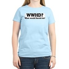 What would Harold do? Women's Pink T-Shirt