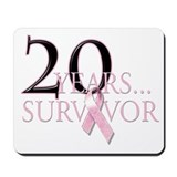 20 Year Breast Cancer Survivor Mousepad