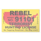 Rebel Terrorist Hunting License  Aufkleber