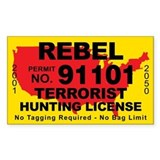 Rebel Terrorist Hunting License Decal