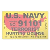U.S. Navy Terrorist Hunting License  Aufkleber