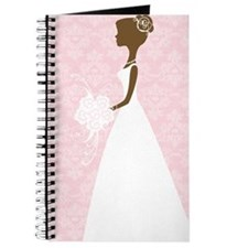Pink Damask Wedding Journal