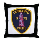 Concord Massachusetts Police Throw Pillow