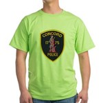 Concord Massachusetts Police Green T-Shirt
