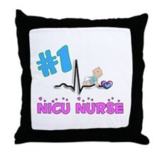 MORE NICU Nurse Throw Pillow