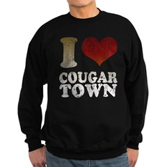 I heart Cougar Town Sweatshirt (dark)