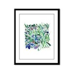 Riccoboni Blue Iris painting Framed Panel Print