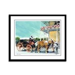 Stagecoach by RD Riccoboni Framed Panel Print