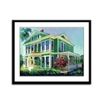Morning Light Burton House Framed Panel Print