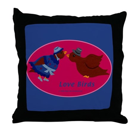 Love Birds Throw Pillows