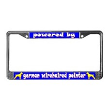 Powered by Ger. Wirehair Pointer Lic. Plate Frame