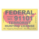 Federal Terrorist Hunting License Decal