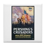 Pershing's Crusaders Poster Art Tile Coaster