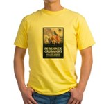 Pershing's Crusaders Poster Art Yellow T-Shirt