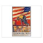 Teamwork Wins Poster Art Small Poster