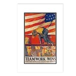 Teamwork Wins Poster Art Postcards (Package of 8)