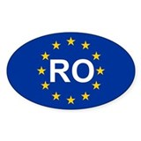 EU Romania Bumper Stickers