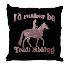 Riding Trails Throw Pillow