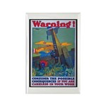 Careless Work Warning Poster Art Rectangle Magnet