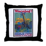 Careless Work Warning Poster Art Throw Pillow