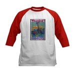 Careless Work Warning (Front) Kids Baseball Jersey