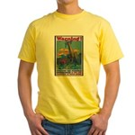 Careless Work Warning Poster Art Yellow T-Shirt
