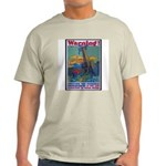 Careless Work Warning Poster Art Ash Grey T-Shirt