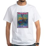 Careless Work Warning Poster Art White T-Shirt