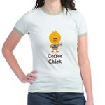 Coffee Chick Jr. Ringer T-Shirt