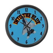 F15 Into the Blue Large Wall Clock