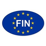 EU Finland Bumper Stickers