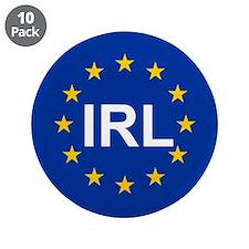 """EU Ireland 3.5"""" Button (10 pack)"""