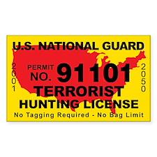 U.S. National Guard Terrorist Hunting License