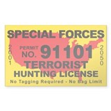 Special Forces Terrorist Hunting License  Aufkleber