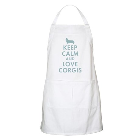 Keep Calm and Love Corgis Apron