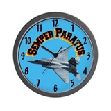 F15 Semper Paratus Wall Clock