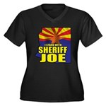 I Stand with Sheriff Joe Women's Plus Size V-Neck