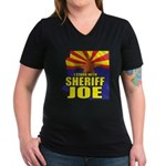 I Stand with Sheriff Joe Women's V-Neck Dark T-Shi