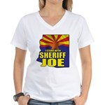 I Stand with Sheriff Joe Women's V-Neck T-Shirt