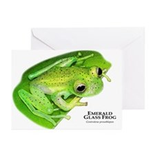 Emerald Glass Frog Greeting Cards (Pk of 10)
